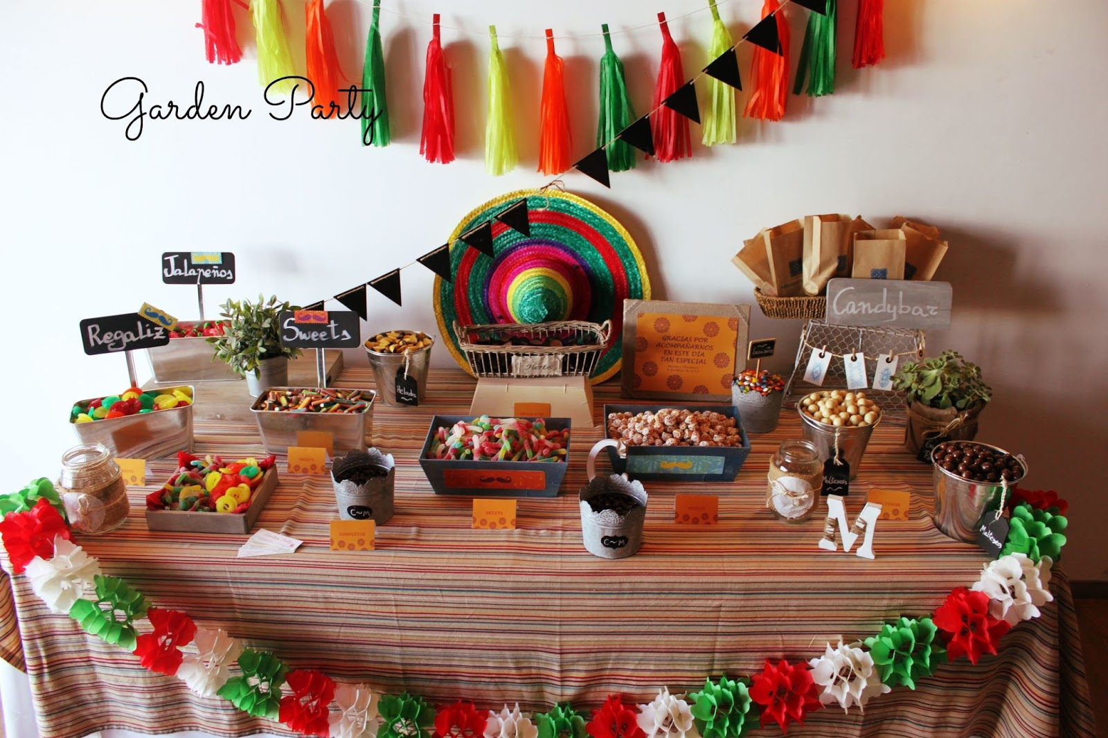 Garden party mesas dulces m laga mesa dulce para una for Decoracion kermes mexicana