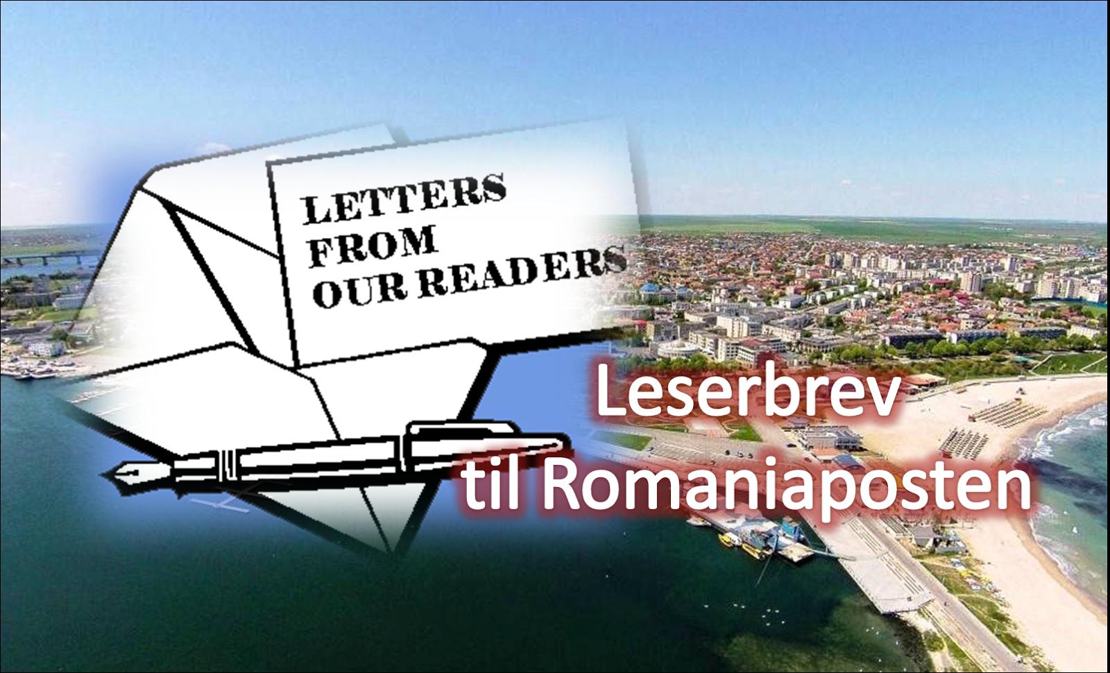 LESERBREV TIL ROMANIAPOSTEN | SPØRSMÅL OG SVAR
