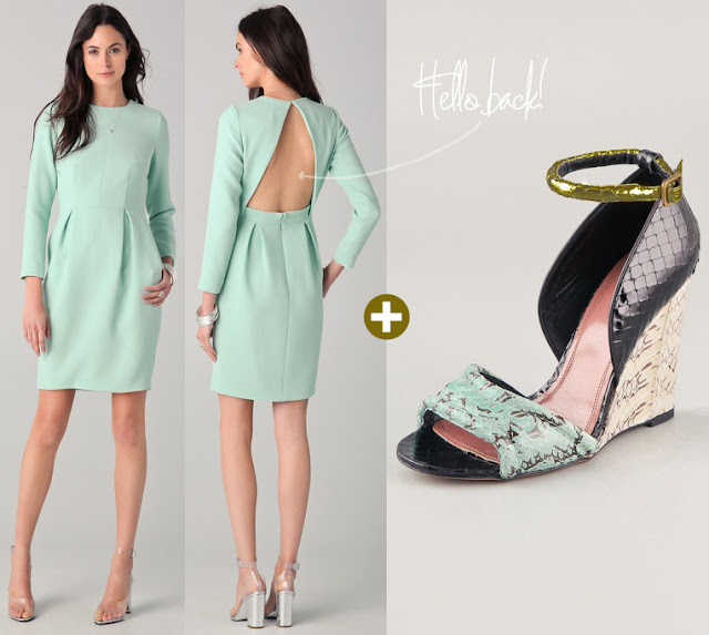 mimiandmegblog.com : FASHION DUET: Minty Splurge (and Steals!)