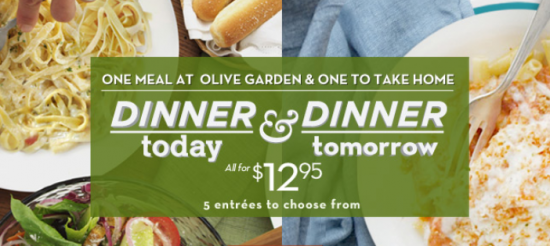 Olive Garden: Buy 1 Entree Get 1 To Take Home For $12.95 | BisMan ...
