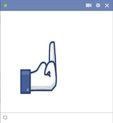 Emoticon do dedo médio do Facebook