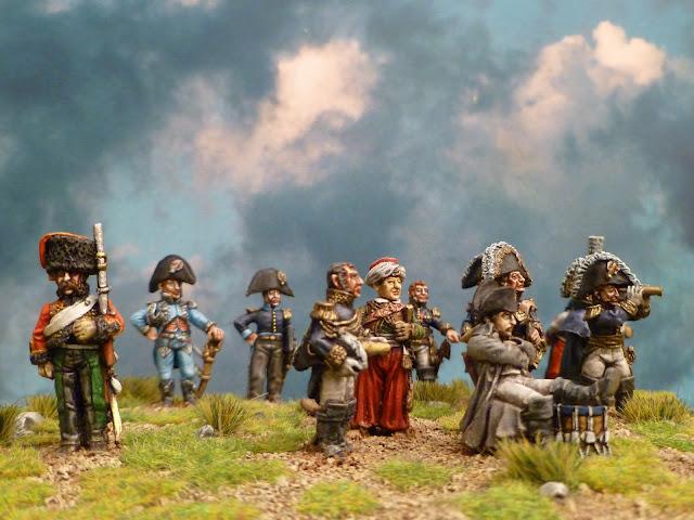 Napoléon et son Etat- Major - Figurines Wargames Foundry 1