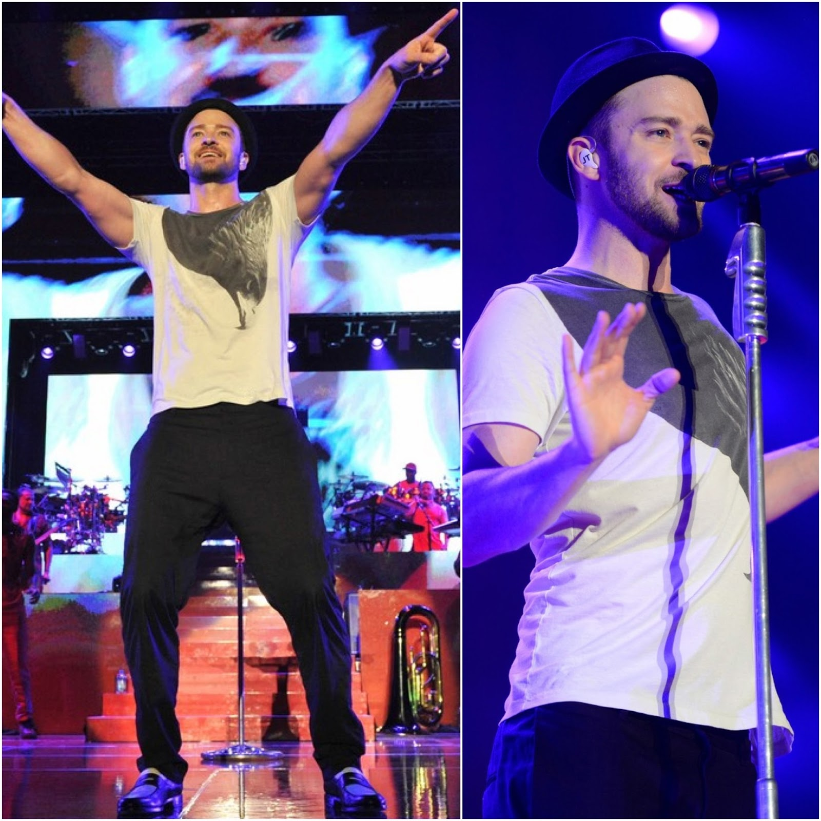 00O00 Menswear Blog: Justin Timberlake in All Saints Swoop Band t-shirt - 'Legends of the Summer Tour', Toronto