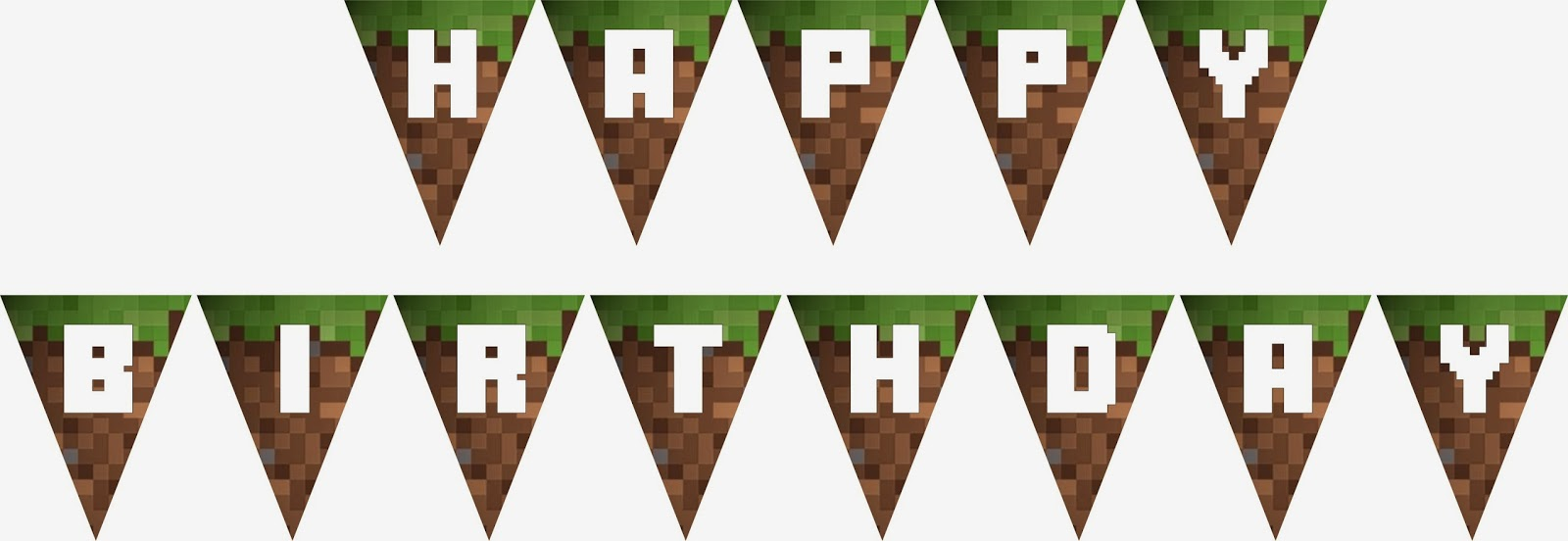 Sly image intended for minecraft birthday banner free printable