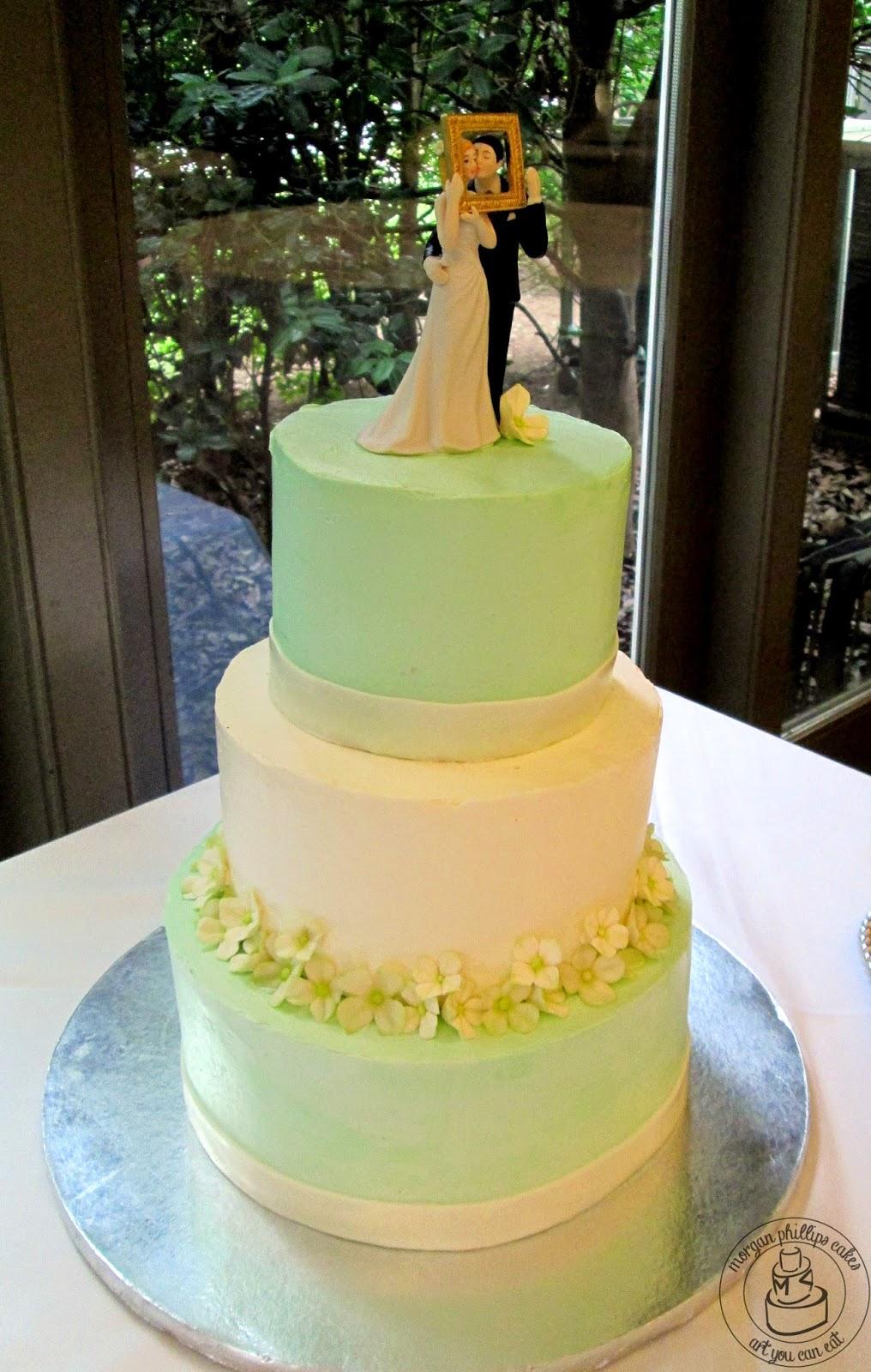 Morgan Phillips Cakes: Green and White Garden Wedding Cake