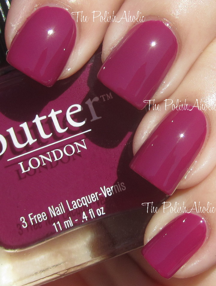 The PolishAholic: Butter London Queen Vic Lacquer & Lippy Swatches!