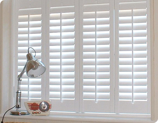 White wooden window shutters 2017 grasscloth wallpaper for Indoor wood shutters white