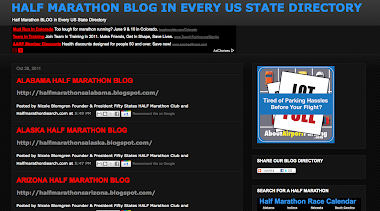 HALF MARATHON US BLOG DIRECTORY OF ALL 50 STATES
