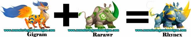 como obtener el monstruo rhynex en monster legends formula 1