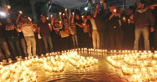 Familiares comemoram vitória dos prisioneiros palestinos