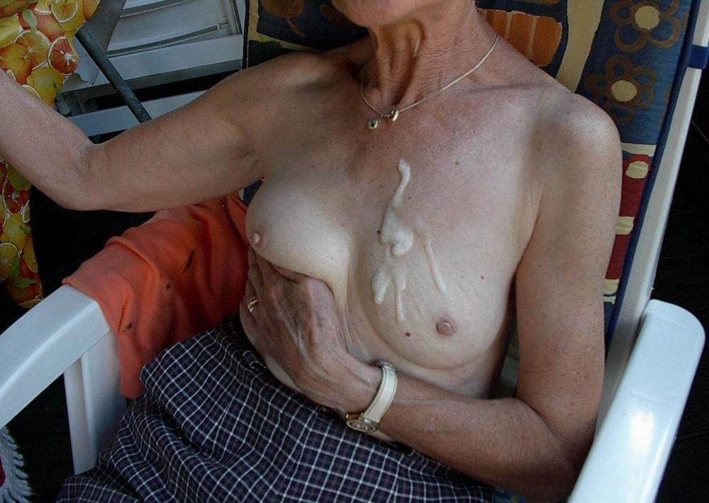 Old Granny Full Of Cum On Her Tits