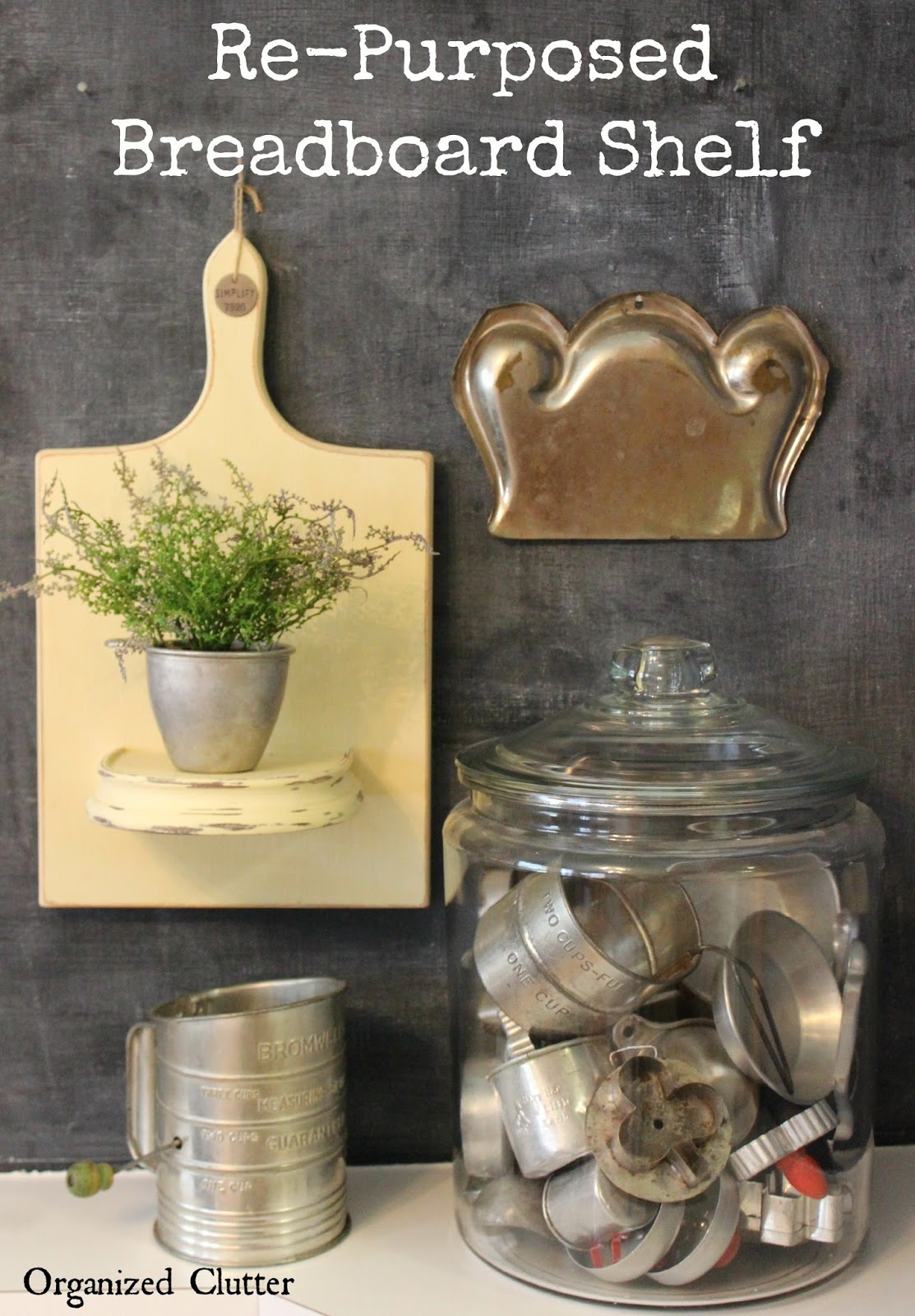 Thrift Shop Makeover - Farmhouse Style Decor www.organizedclutterqueen.blogspot.com