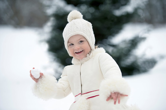HRH Princess Estelle Silvia Ewa Mary, Princess of Sweden, Duchess of Östergötland, was born February 23, 2012 as the first child of Crown Princess Victoria and Prince Daniel