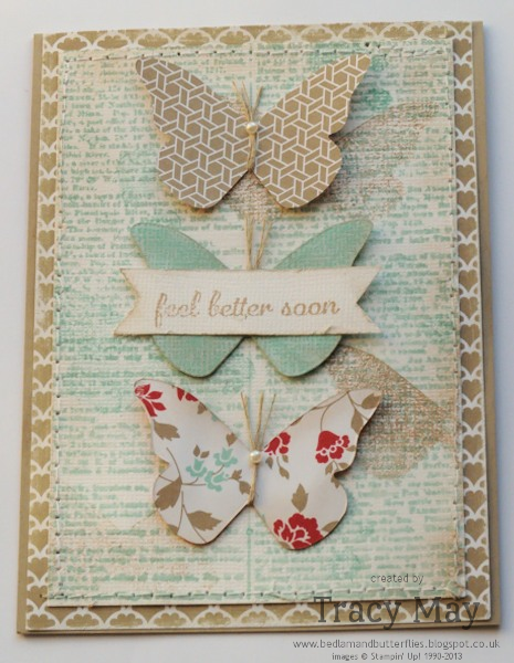 Stampin up beautiful butterflies bigz die Tracy May card making ideas Gorgeous Grunge Dictionary