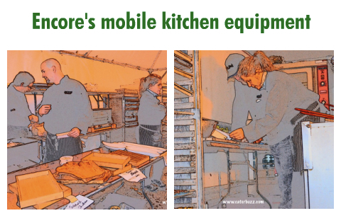 mobile kitchen equipment for on site cooking for bar mitzvah