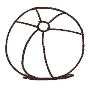 ビーチボールのイラスト 線画