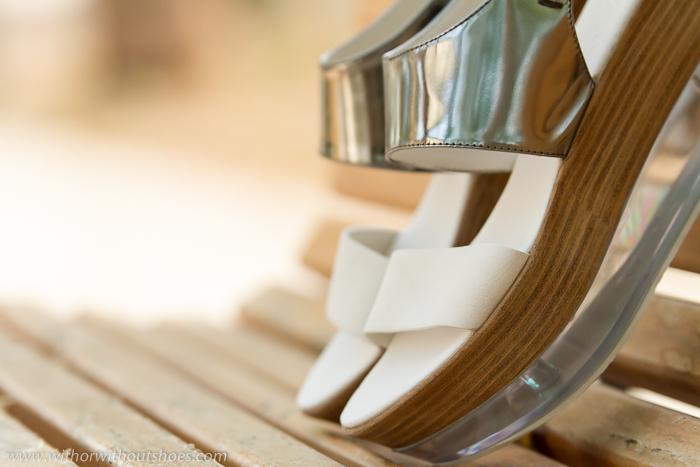 Sandalias plataformas cómodas con suela de metacrilato de marca italiana calidad AGL Attilio Giusti Leombruni