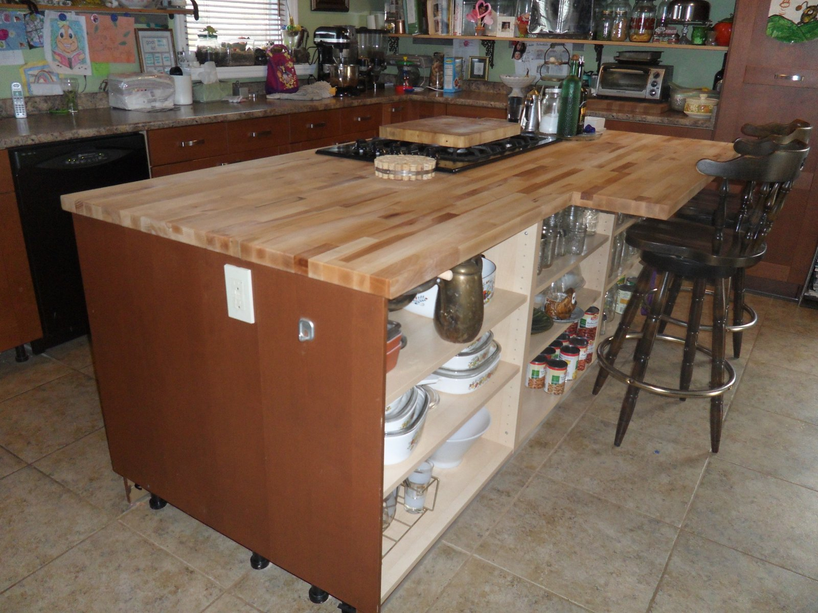 Countertop Joiner : ... DIY: Joining Two IKEA Numerar Butcher Blocks Into One Large Countertop