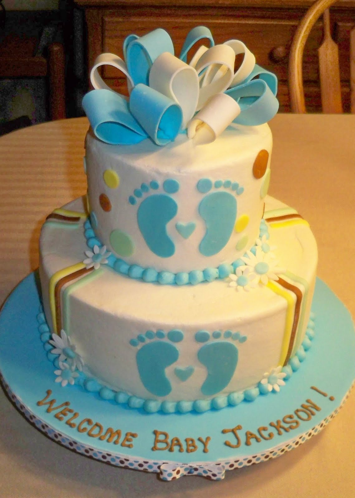 bobbie 39 s cakes and cookies baby boy shower cakes