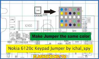 Nokia 6120 keypad ic ways jumper diagram hardware problem solution