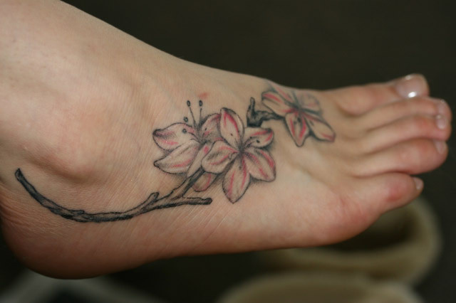 tattoos on foot