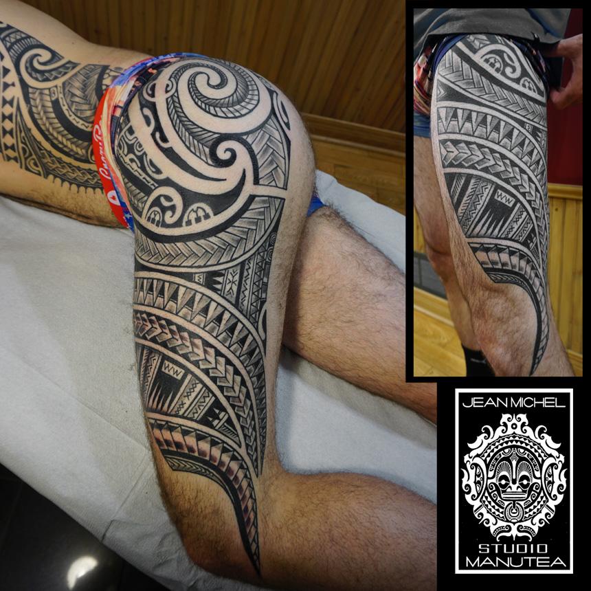 tatouage polynesien-polynesian tattoo: maori polynesien montreal