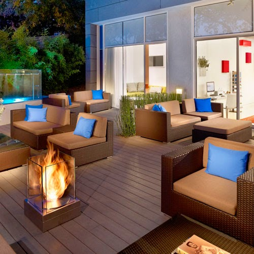 patio fireplaces layout designs decorating photos