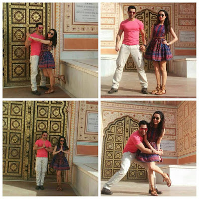 Varun  Dhawan and Shraddha Kapoor visit the pink city