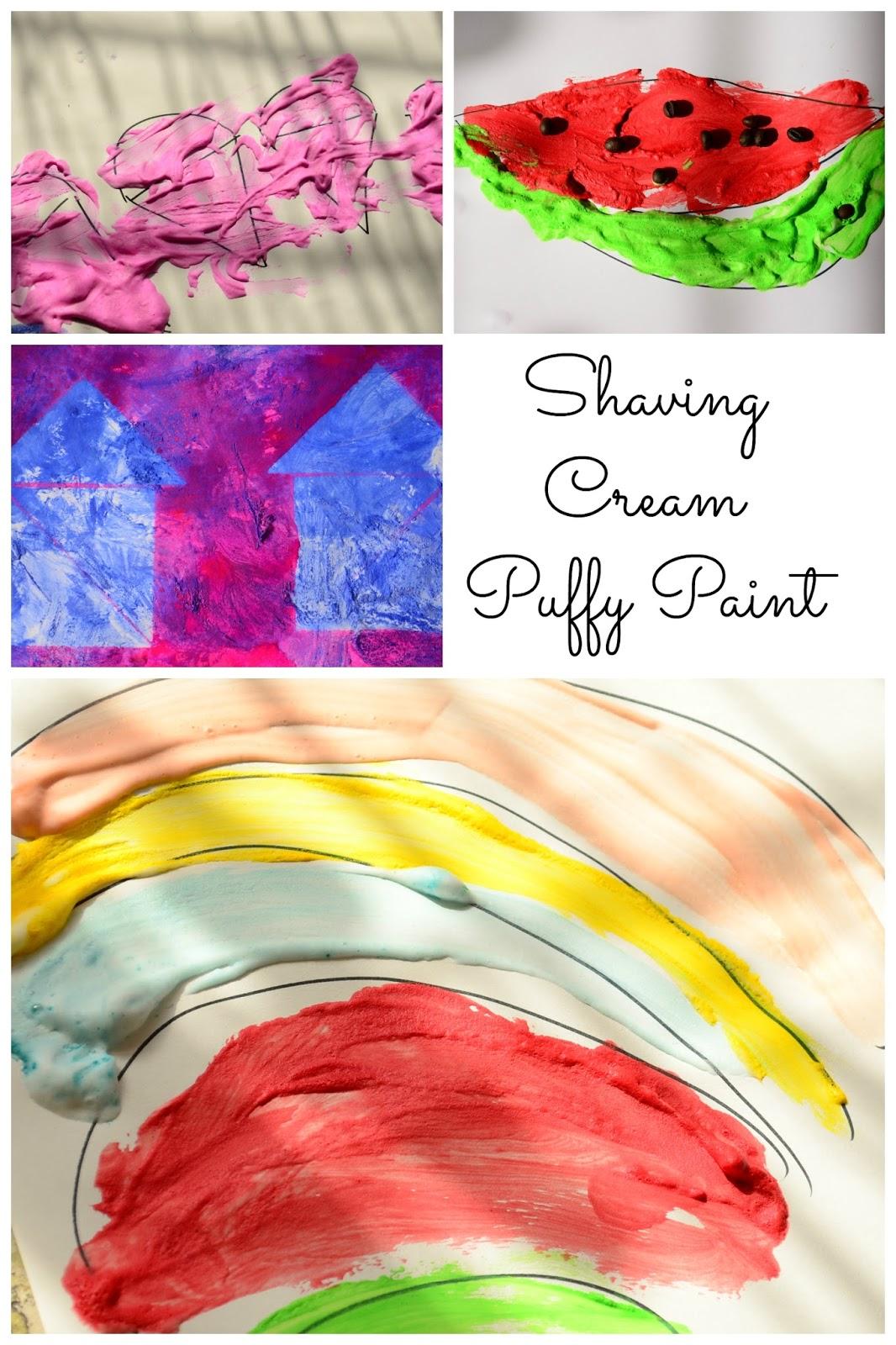 Practical mom shaving cream puffy paint art for Shaving cream paint