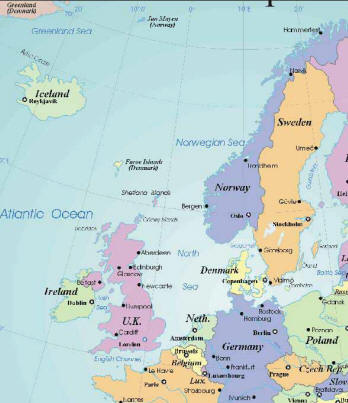 Map of Europe Cities Pictures Printable Maps of Northern Europe Region