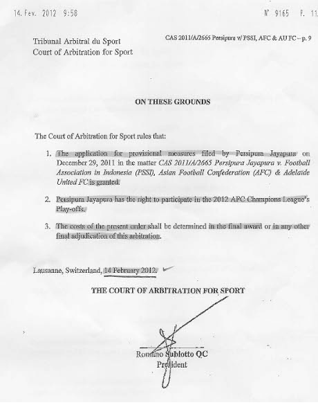 Surat Keputusan Final CAS
