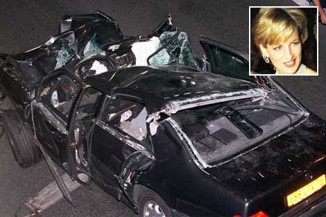 princess diana car crash photos. princess diana crash