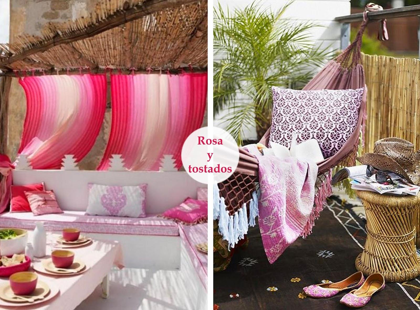 Terrazas decoradas en rosa