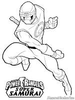 Gambar Sketsa Power Ranger Untuk Diwarnai