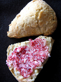 Dec new+191a Nutmeg Scones with Cranberry Orange Butter