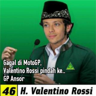 Gagal di MotoGP, Rossi Memilih Pindah ke GP Ansor [Meme]