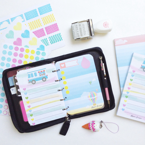 happiness is scrappy setting up planners with happie scrappie