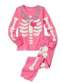halloween skeleton pajamas for kids