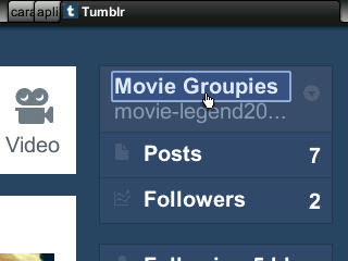 mybbcurve9300, tampilan dashboard Tumblr opera mini