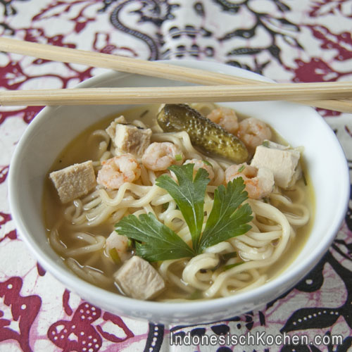 mie kuah nudelsuppe indonesisch rezept