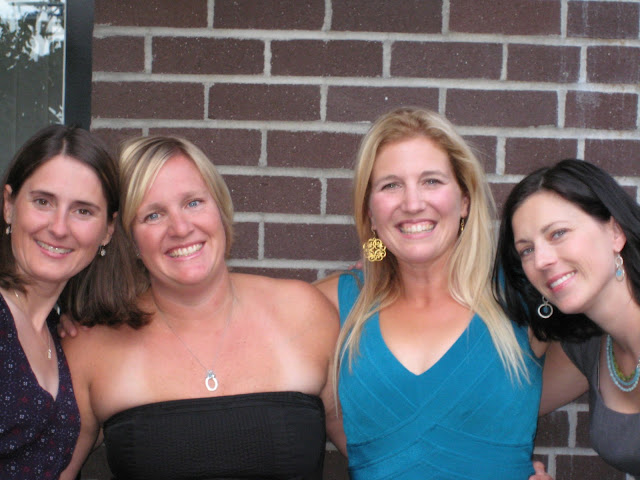 My three friends and I at our 20 year high school reunion.