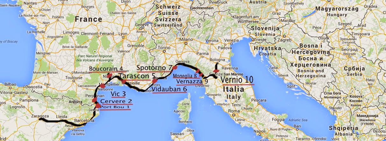 Mapa De Espaa E Italia