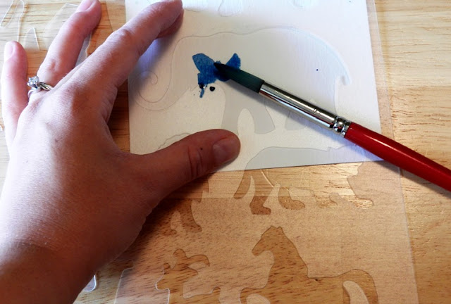 watercolor stencil art