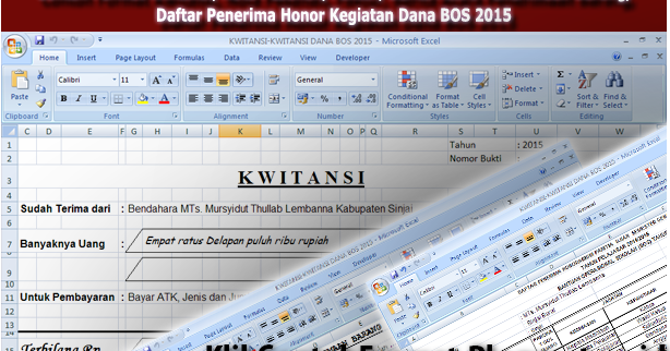 Download Unduh Contoh Format Kwitansi Nota Pesanan Faktur