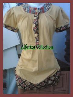 desain blus kombinasi batik