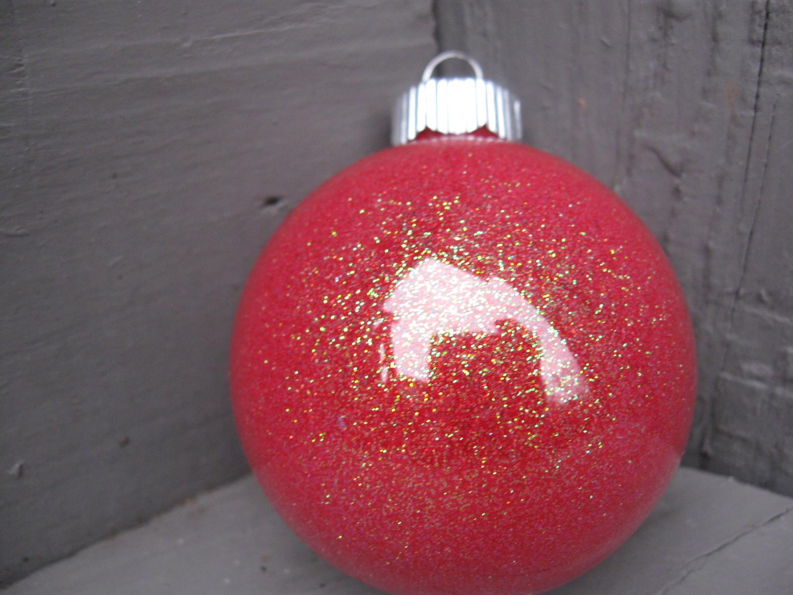 Glitter Ornaments With Floor Wax