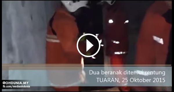 Video: Bomba temui dua beranak rentung dalam kebakaran di Tuaran
