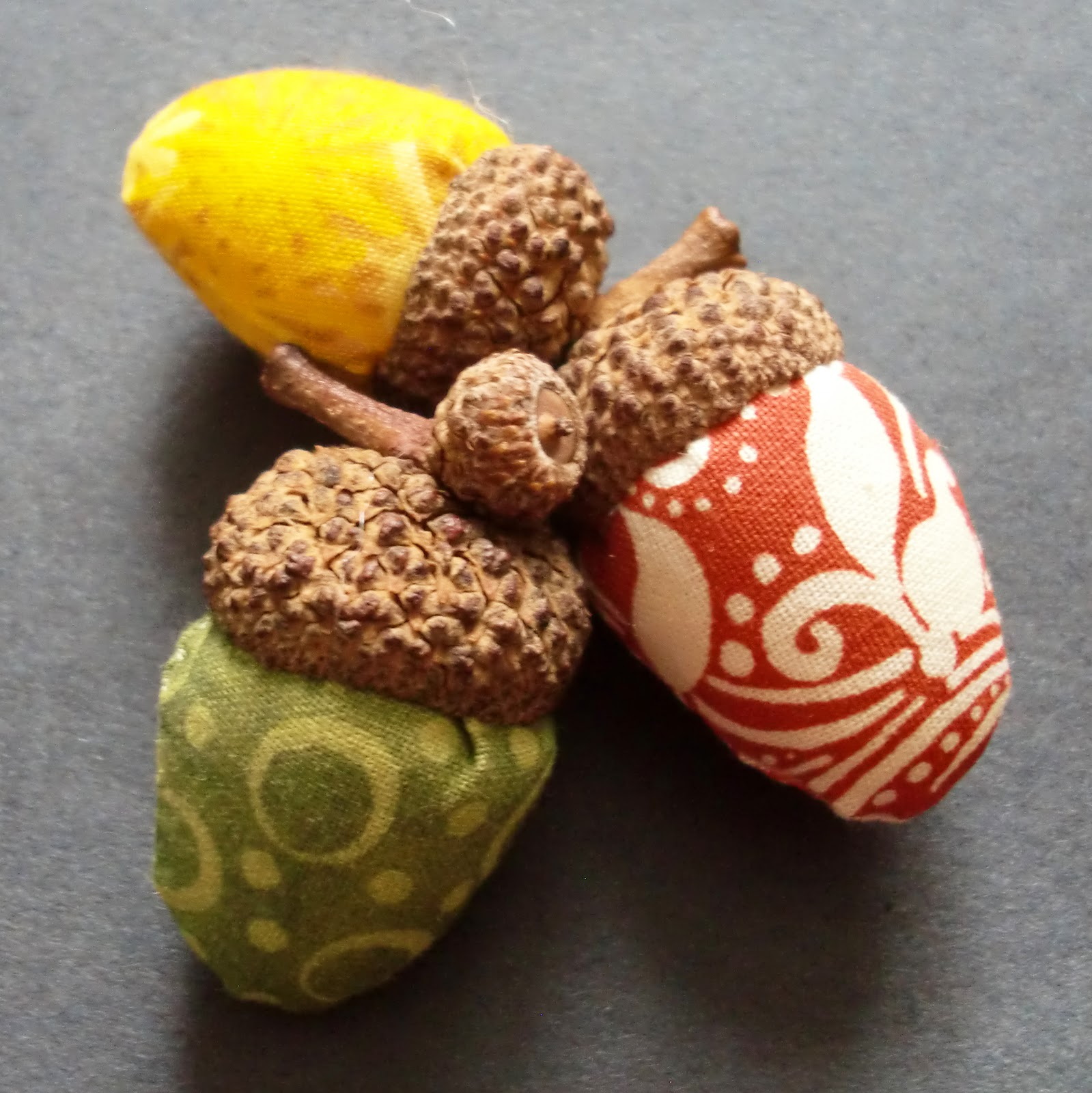 Everyday art fabric acorns for How to preserve acorns for crafts