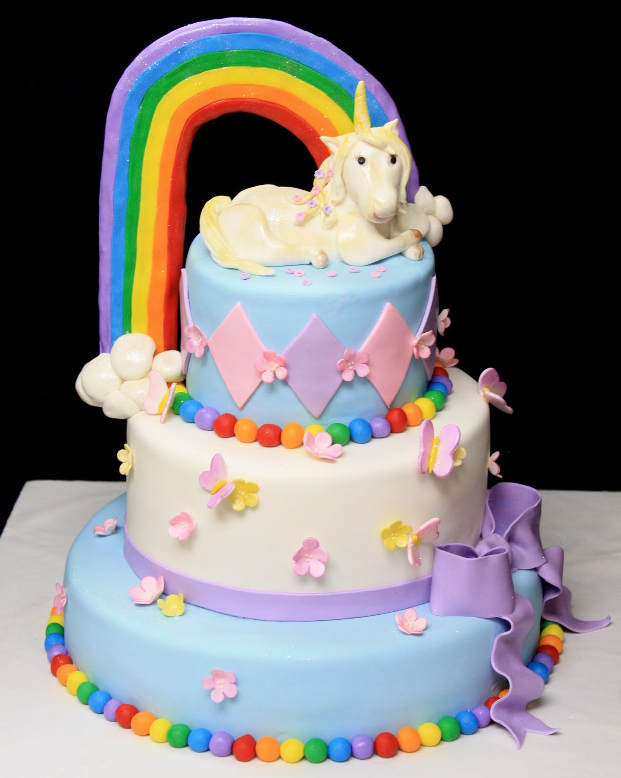 Gallery For gt How To Make A Unicorn Birthday Cake