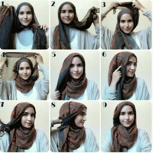 Model Jilbab Modern Segi Empat Jilbab Cantik Segi Empat
